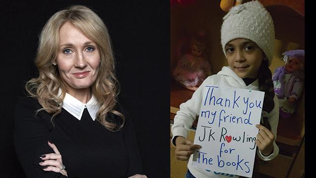 J. K. Rowling regala libros a niña siria