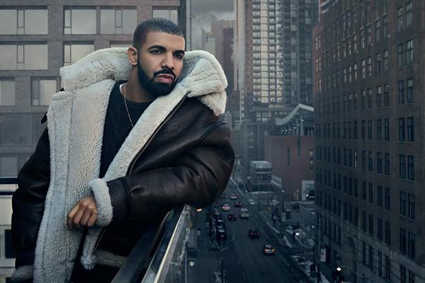 Drake, el más escuchado de Spotify en 2016