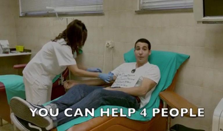 Miguel Ángel Silvestre promueve donación de sangre
