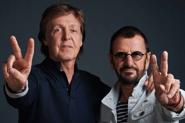Ringo Starr y Paul McCartney graban juntos